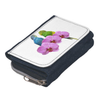 Budgie with Purple Orchid Wallets