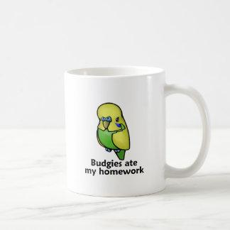 Budgies ate my homework coffee mug
