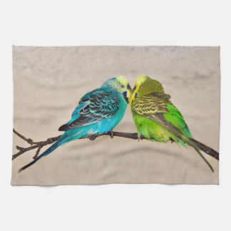 Budgies in Love Kitchen Towel