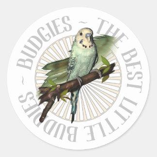 Budgies The Best Little Buddies Classic Round Sticker