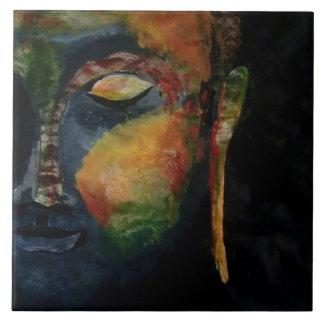 """Budha painted Large (6"""" X 6"""") Ceramic Photo Tile"""