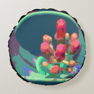 Buds from Above Combo Round Pillow