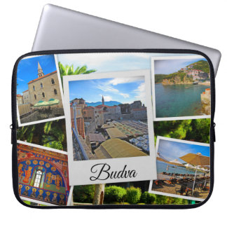 Budva Montenegro Collage Laptop Sleeve