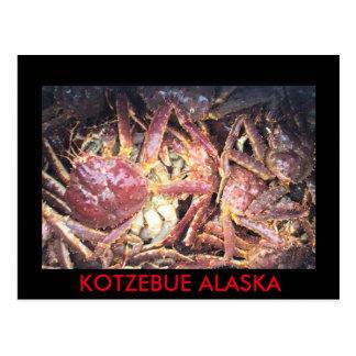 BUE ALASKA CRAB POSTCARD