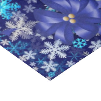 Bue snowflake and bows tissue paper Christmas