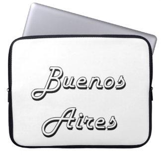 Buenos Aires Argentina Classic Retro Design Laptop Sleeve