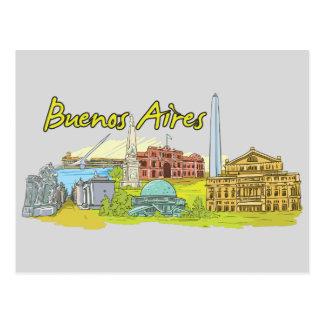 Buenos Aires, Argentina Famous City Postcard