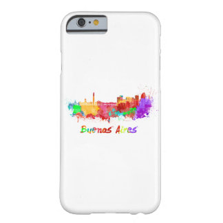 Buenos Aires skyline in watercolor Barely There iPhone 6 Case