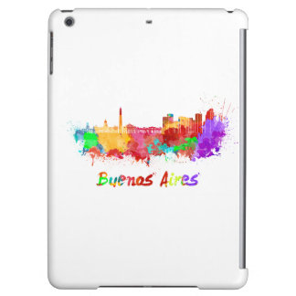 Buenos Aires skyline in watercolor iPad Air Cover
