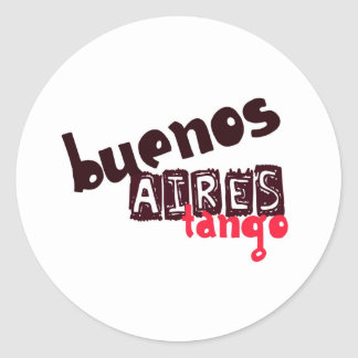 Buenos Aires Tango Classic Round Sticker