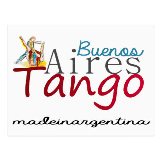 Buenos Aires Tango Made in Argentina Postcard