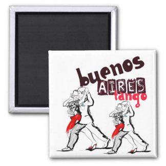 Buenos Aires Tango Square Magnet