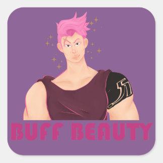 Buff Beauty Square Sticker