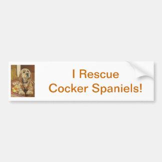 Buff Cocker Spaniel Bumper Sticker