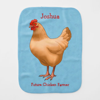 Buff Orpington Chicken Hen Burp Cloth