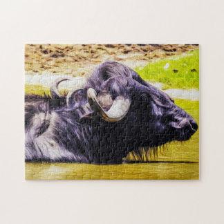 Buffalo 01 Digital Art - Photo Puzzle