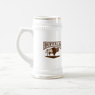 Buffalo American Bison Side Woodcut 18 Oz Beer Stein