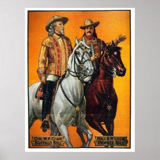 Buffalo and Pawnee Bill - Print