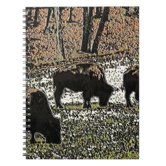 Buffalo Art Wild West Western Theme Notebooks