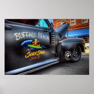 Buffalo Beach Surf Shop Poster