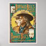 Buffalo Bill and Pawnee Bill Wild West Show Poster