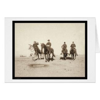 Buffalo Bill & Army Officers SD 1891 Card