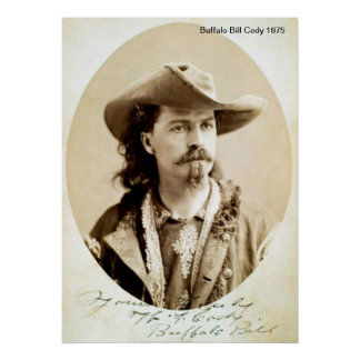 Buffalo Bill Cody 1875  Print