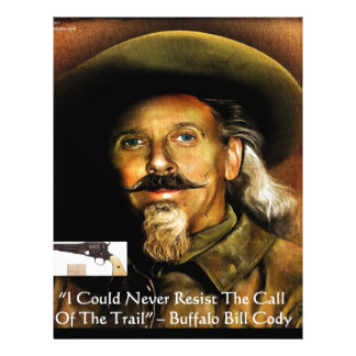 Buffalo Bill Cody His Gun & Quote Gifts & Cards Customized Letterhead