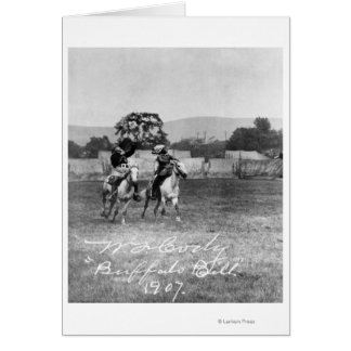 """Buffalo Bill"" Cody Riding Horse Card"