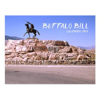 Buffalo Bill Colorado 1970 Retro Travel Image Postcard