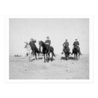 Buffalo Bill, General Miles, Captain Baldwin Postcard