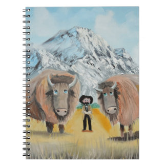 Buffalo Bill illustration wild west Spiral Note Book