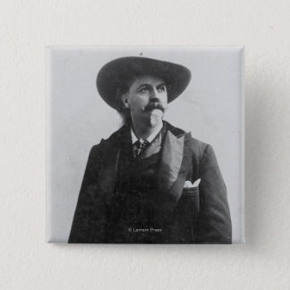 Buffalo Bill Portrait 2 Inch Square Button