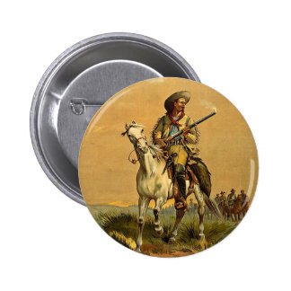 """Buffalo Bill """"The Scout"""" Vintage Advertisement Pinback Buttons"""