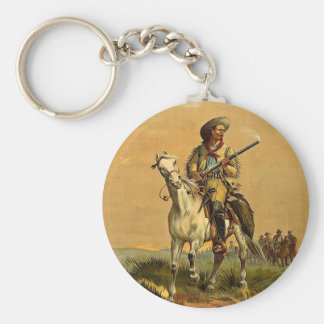 "Buffalo Bill ""The Scout"" Vintage Advertisement Keychain"