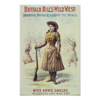 Buffalo Bill Wild West Annie Oakley Poster