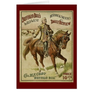 Buffalo Bill Wild West Daily Shows Card