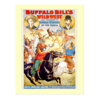 Buffalo Bill Wild West Show Poster Apparel, Gifts Postcard