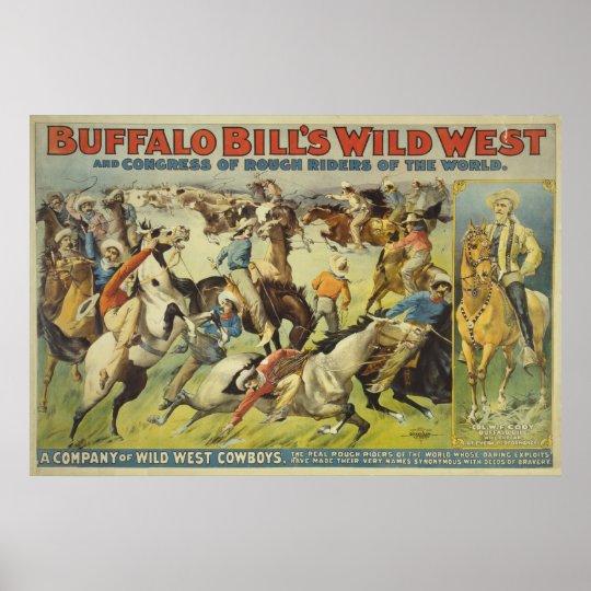 Buffalo Bill's Wild West Cowboys Poster