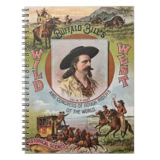 Buffalo Bills Wild West Show 1893 Vintage Ad Spiral Note Book