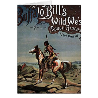 Buffalo Bills Wild West Show Card