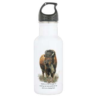 Buffalo Bison Animal Totem Spirit Guide 532 Ml Water Bottle