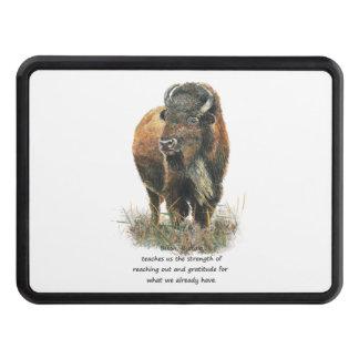 Buffalo Bison Animal Totem Spirit Guide Art Trailer Hitch Cover