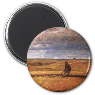 Buffalo Bones Plowed Under by Harvey Thomas Dunn 2 Inch Round Magnet