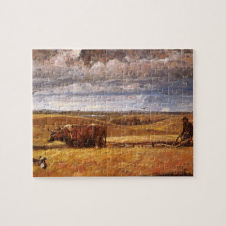 Buffalo Bones Plowed Under by Harvey Thomas Dunn Jigsaw Puzzle