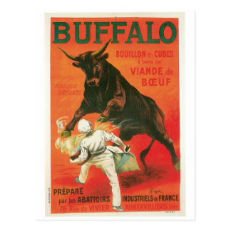 Buffalo Bouillon Cubes Vintage Food Ad Art Postcard