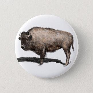 Buffalo, Bubalus 2 Inch Round Button