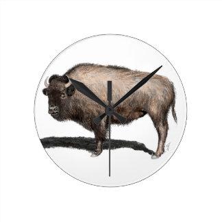Buffalo, Bubalus Round Clock