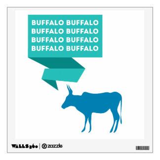 Buffalo Buffalo Wall Sticker