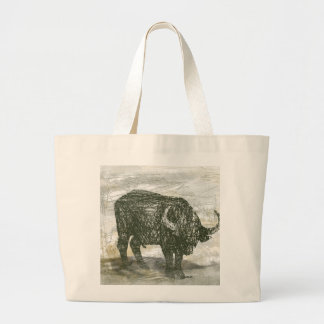 Buffalo Bull Large Tote Bag